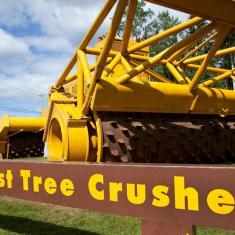 Worlds' Largest Tree Crusher